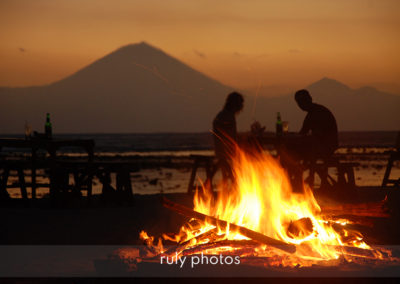 Couché de soleil sur les iles Gili en Indonésie - voyage