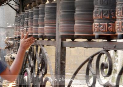 Rouleaux de priere au Swayambhunath Stupa à Katmandou - voyage