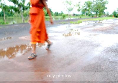 voyage Moine en flou artistique au Laos - voyage